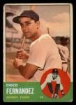 1963 Topps #278   Chico Fernandez Front Thumbnail