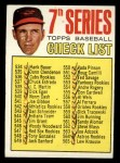 1967 Topps #531  Checklist 7  -  Brooks Robinson Front Thumbnail