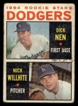 1964 Topps #14   Dodgers Rookie Stars  -  Dick Nen / Nick Willhite Front Thumbnail