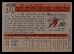 1957 Topps #401   Earl Battey Back Thumbnail