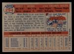 1957 Topps #294   Rocky Bridges Back Thumbnail