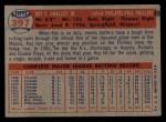 1957 Topps #397   Roy Smalley Back Thumbnail