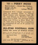 1948 Leaf #10  Perry Moss  Back Thumbnail