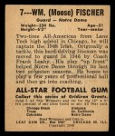 1948 Leaf #7 RED William Fischer  Back Thumbnail