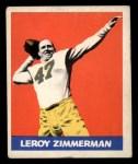 1948 Leaf #32  Leroy Zimmerman  Front Thumbnail