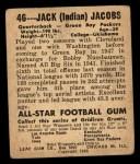 1948 Leaf #46 JER Jack Jacobs  Back Thumbnail