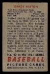1951 Bowman #47  Grady Hatton  Back Thumbnail