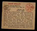 1950 Bowman #127   Dave Philley Back Thumbnail
