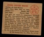 1950 Bowman #251   Les Moss Back Thumbnail