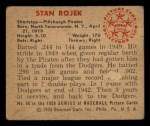1950 Bowman #86  Stan Rojek  Back Thumbnail