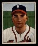 1950 Bowman #74   Johnny Antonelli Front Thumbnail