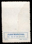 1969 Topps Deckle Edge #32  Juan Marichal     Back Thumbnail