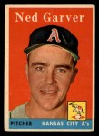 1958 Topps #292   Ned Garver Front Thumbnail