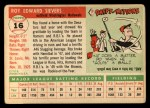 1955 Topps #16   Roy Sievers Back Thumbnail