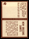 1967 Philadelphia #121   New Orleans Saints Logo Back Thumbnail