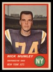 1963 Fleer #22  Nick Mumley  Front Thumbnail