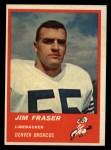 1963 Fleer #86   Jim Fraser Front Thumbnail