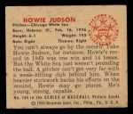 1950 Bowman #185   Howie Judson Back Thumbnail