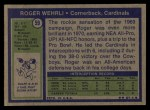 1972 Topps #59   Roger Wehrli Back Thumbnail