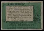 1956 Topps Davy Crockett #21 GRN  A Shot Rings Out  Back Thumbnail