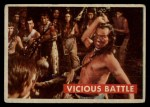 1956 Topps Davy Crockett #29 GRN  Vicious Battle  Front Thumbnail