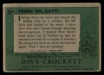 1956 Topps Davy Crockett #31 GRN  Finish 'Em Davy  Back Thumbnail