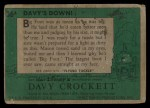 1956 Topps Davy Crockett #36 GRN Davy's Down!   Back Thumbnail