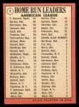 1969 Topps #5  1968 AL Home Run Leaders    -  Frank Howard / Willie Horton / Ken Harrelson Back Thumbnail