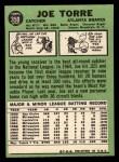1967 Topps #350   Joe Torre Back Thumbnail