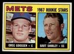 1967 Topps #287   Mets Rookie Stars  -  Greg Goossen / Bart Shirley Front Thumbnail