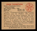 1950 Bowman #120  John Thompson  Back Thumbnail