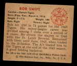 1950 Bowman #149   Bob Swift Back Thumbnail