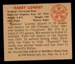1950 Bowman #172   Peanuts Lowrey Back Thumbnail