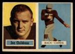 1957 Topps #100   Joe Childress Front Thumbnail