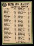 1967 Topps #244   -  Hank Aaron / Rich Allen / Willie Mays NL HR Leaders Back Thumbnail