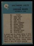 1964 Philadelphia #14   -  Don Shula Baltimore Colts Back Thumbnail