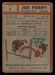 1962 Topps #4   Joe Perry Back Thumbnail