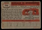 1956 Topps #70   Don Stonesifer Back Thumbnail