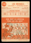 1963 Topps #130   Lou Michaels Back Thumbnail