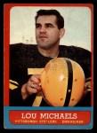 1963 Topps #130   Lou Michaels Front Thumbnail