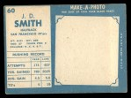 1961 Topps #60   JD Smith Back Thumbnail
