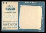 1961 Topps #110  John Regar  Back Thumbnail