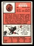 1966 Topps #17   Glenn Bass Back Thumbnail
