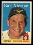1958 Topps #165   Bob Nieman Front Thumbnail
