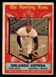 1959 Topps #553  All-Star  -  Orlando Cepeda Front Thumbnail