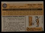 1960 Topps #156   Art Ceccarelli Back Thumbnail