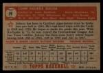 1952 Topps #19 RED Johnny Bucha  Back Thumbnail