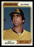 1974 Topps #387 WASH Rich Morales  Front Thumbnail