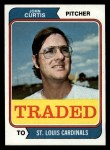 1974 Topps Traded #373 T  John Curtis Front Thumbnail