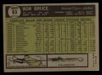 1961 Topps #83  Bob Bruce  Back Thumbnail